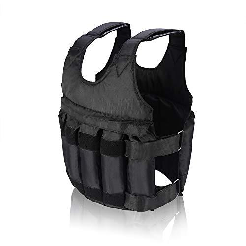 DEWIN Veste de poids ajustable - Veste lestée ajustable de boxe Gilet Lestee Chargement de 50 kg Maximum avec 12 Pochettes pour la Forme Physique Perdre du Poids et Faire de l'exercice Agile