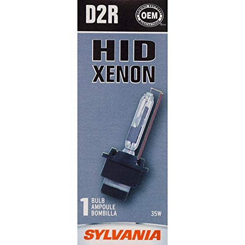 SYLVANIA - D2R Basic HID (High Intensity Discharge) Headlight Bulb - High Performance Bright, White, and Durable Lamp (Contains 1 Bulb)