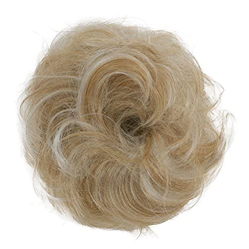 PRETTYSHOP ECHTHAAR Haargummi Haarteil Haarverdichtung Zopf Haarband Haarschmuck Blond Mix H312a