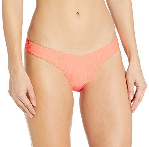 Seafolly Damen V High Cut Pant Bikini Bottom Swimsuit Bikinihose, Capri Sea Fluoreszierende Melone, 36