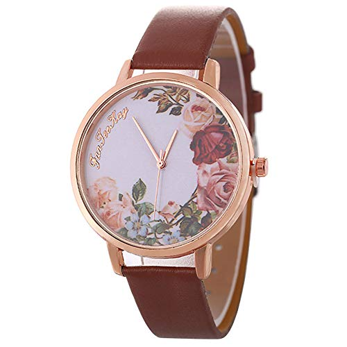 Sanwood Flower Girl Watch, Casual Women Jewelry Flower Pattern Faux Leather...