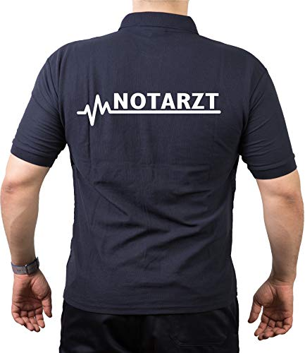 FEUER1 Poloshirt Navy, Notarzt M