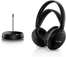 Philips SHC5200/10 Auriculares TV Inalámbricos, Supraaurales HiFi (Altavoz 32 mm, Transmisión Inalámbrica por FM, Banda...