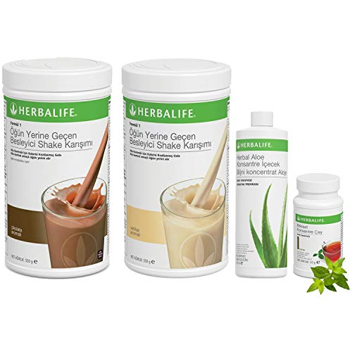Herbalife Shake Mix 1 Vanille 1 Schokolade 1 Aloe Vera 1 klassischer Tee