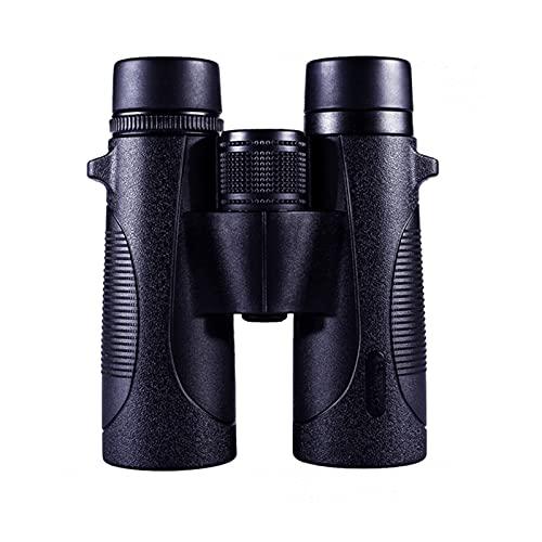 WJYZYHM 10x42Hight Ampliación Binoculares Adultos Binoculares compactos, Caza al Aire Libre, Observación de Aves, Senderismo, Viajes, Conciertos, Eventos Deportivos Binoculares, Bolsa de Transporte