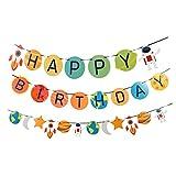 ABOOFAN Feste di Compleanno Bunting Banner Astronauta Spazio A Tema Buon Compleanno Gagliardetto Banner Bandiere Ghirlanda Festa Compleanno Anniversario Baby Shower