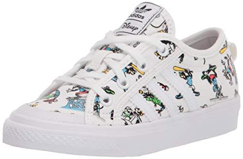 Zapatillas deportivas adidas Originals Nizza X Disney Sport Goofy para niños, Blanco (Blanco/Escarlata/Negro), 37 EU