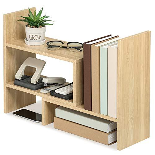 FITUEYES Regal Schreibtisch Organizer DIY Oak Holz Bücherregal für Büro und Zuhause 68x17x39cm DT306806WO