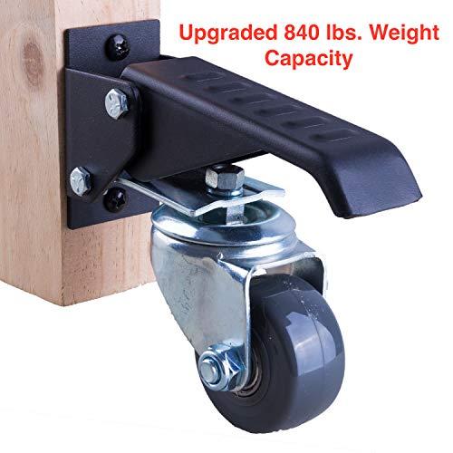165 lbs Foot wheel Swivel Industrial Casters 2 inch wheels with ball bearings