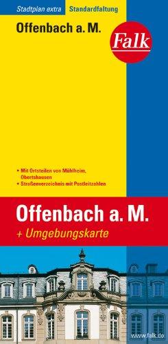 Falk Stadtplan Extra Standardfaltung Offenbach mit Mühlheim und Obertshausen