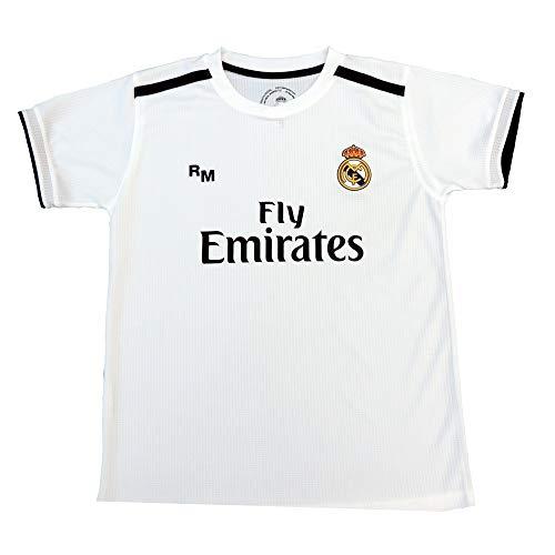 Real Madrid Camiseta Adulto Sin Dorsal. Réplica Oficial de la Primera Equipación Temporada 2018-2019 - Talla L, Blanco