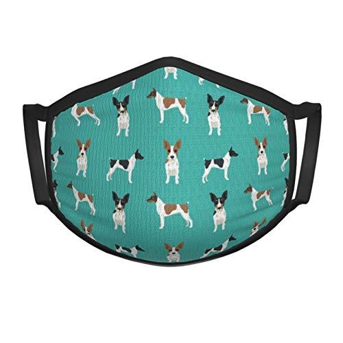 Qefgjbw Rat Terrier, simple, raza de perro, turquesa, cara, bandana, polaina ajustable para el cuello con orejeras, bufanda para el sol UV, pasamontañas