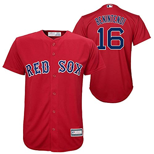 Outerstuff Andrew Benintendi Boston Red Sox #16 Youth Alternate Jersey Red (Youth Medium 10/12)