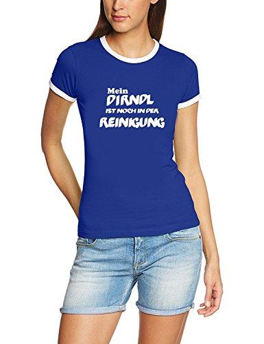 Mein Dirndl ist noch in der Reinigung ! Damen Ringer Oktoberfest Wiesn T-Shirt blau_RIGI Ringer Gr.XL