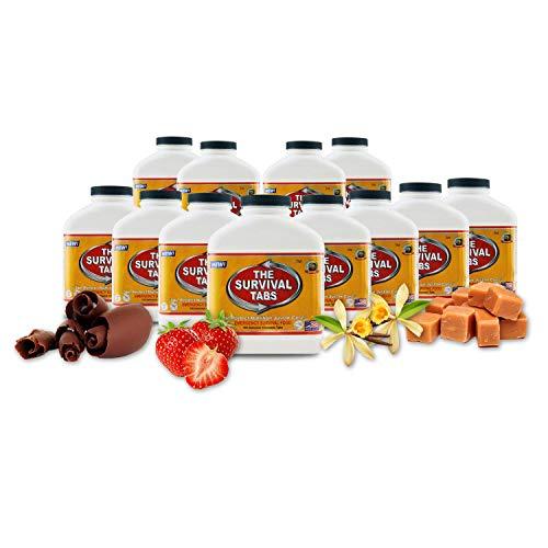 6 months noprep basic food supply emergencyfood supply 25 year shelf life butterscotch12 bottles x 180 tabs no gluten and gmo