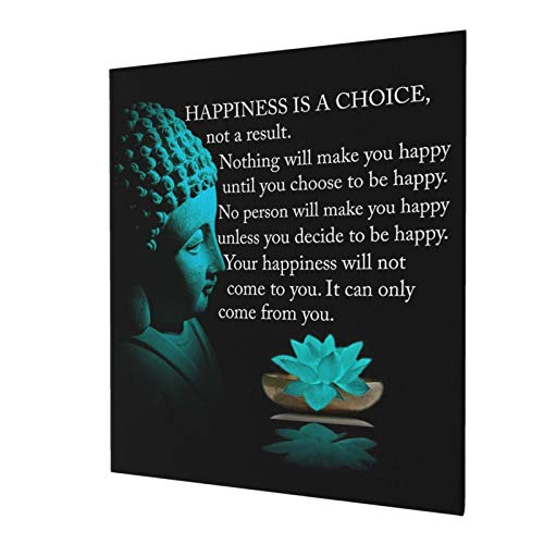 Buddha Wall Art Canvas Prints Artwork Inspirational Motivational Zen Quote Wall Decor For Bathroom, Home, Apartment, Spa, Yoga Or Meditation Room - Unique Gift For New Age Fan Women 20x24inch