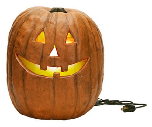 Realistic Jack-O-Lantern Pumpkin Halloween Decoration