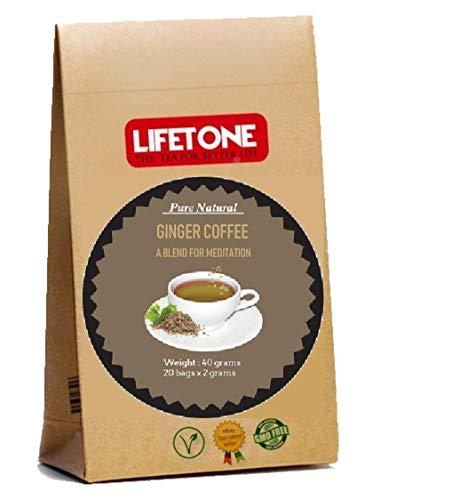 Caffè allo zenzero, miscela di chicchi di caffè con chicco di caffè, cardamomo, coriandolo,...