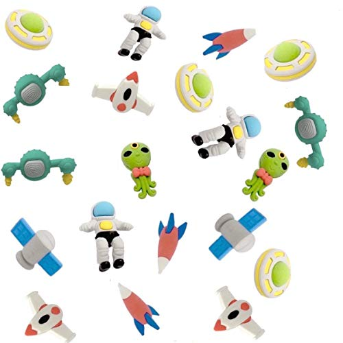 iMagitek 32 Pack Outer Space Puzzle Erasers for Kids Party Bag Favors, Kids Stocking Fillers, Classroom Prizes