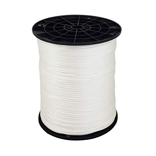 1/8' (#4) X 1,000 ft Low -Stretch Industrial Polyester Cord. USA Made