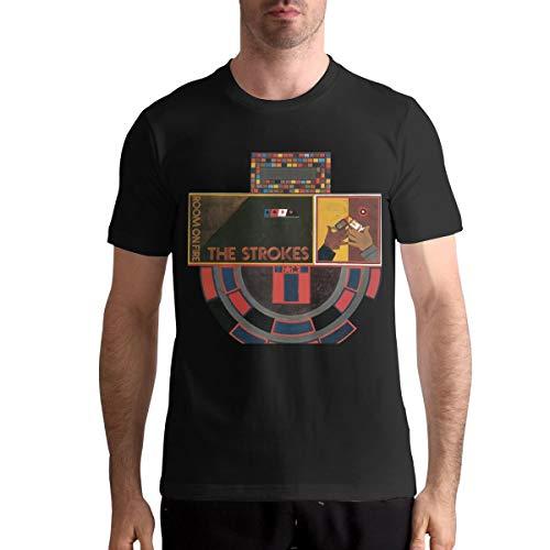 IkedaEriko The Strokes Room On Fire Mens T-Shirt Fashion Man Short Sleeves Tshirts L Black