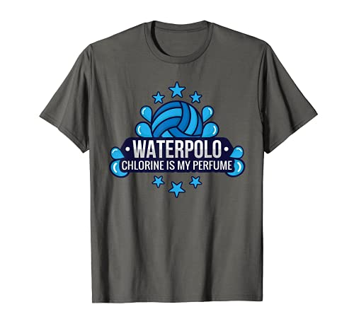 Funny Water Polo Chlorine Is My Perfume Swimming Sport T-Shirt