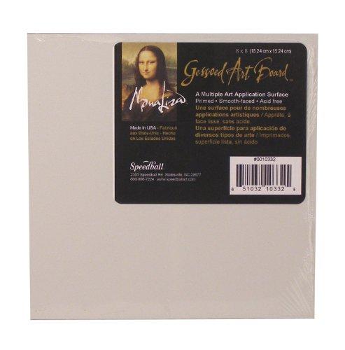 Speedball Mona Lisa 8-inch-by-8-inch Gessoed Art Junta