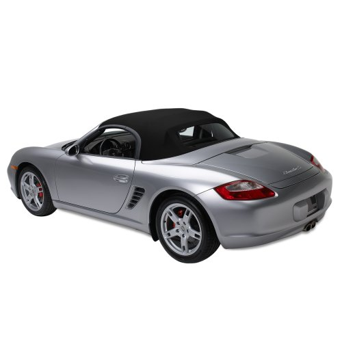 Sierra Auto Tops Convertible Soft Top Replacement, compatible with Porsche Boxster 1997-2002, Acoustic A5 Canvas, Black