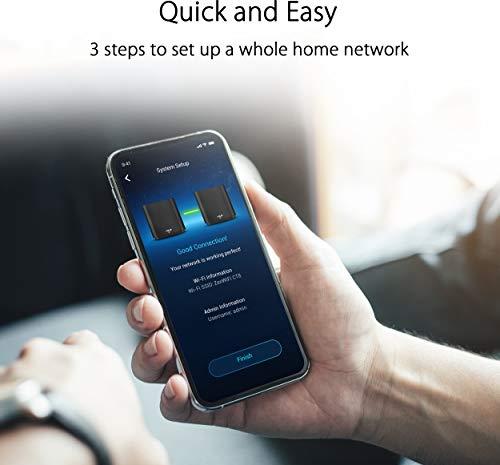 Asus ZenWiFi AC (CT8) Router (Ai Mesh WLAN System, WiFi 5 AC3000, Tri-Band, 3x Gigabit LAN, AiProtection, USB 3.0) schwarz