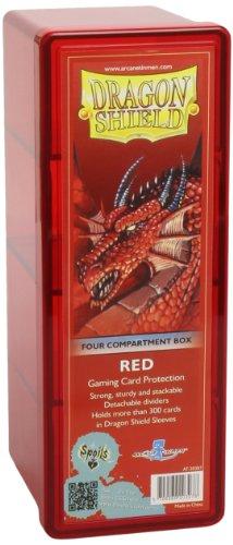Arcane Tinmen 20307 - Sammelkartenspielzubehör - Dragon Shield 4 Compartment Storage Box, rot