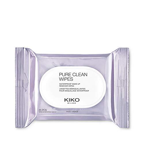 KIKO Milano Pure Clean Wipes   25 Salviette Struccanti Viso, Contorno Occhi e Labbra