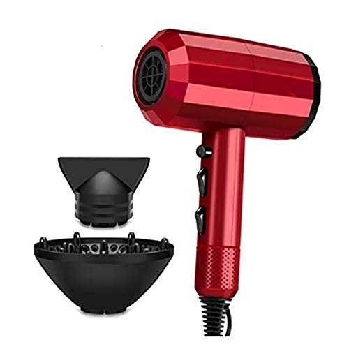 Sèche-cheveux professionnel, 3000W avec diffuseur Concentrateur et Set Air Hood, Salon ionique Coup sèche-cheveux avec 2 Concentrant la chaleur et 2 Nozzles vitesses, pour hommes et femmes
