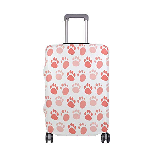 ALINLO Pink Paw Claw Pattern Luggage Cover Baggage Suitcase Travel Protector Fit for 18-32 Inch