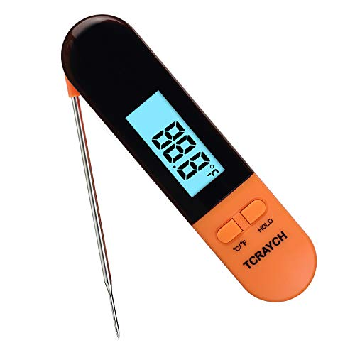 Instant Read Meat Thermometer Digital Thermometer with Backlight and Calibration for Kitchen Food Cooking BBQ Grill