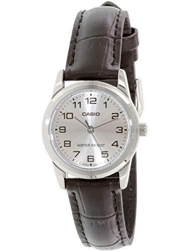 CASIO Damen Analog Quarz Uhr mit Leder Armband LTP-V001L-7