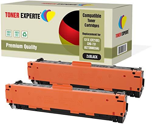 2er Pack TONER EXPERTE® Schwarz Premium Toner kompatibel zu 131X CF210X für HP Laserjet Pro 200 Color MFP M276nw M276n M251nw M251n Canon i-SENSYS LBP7100Cn LBP7110Cw MF628Cw MF8230Cn MF8280Cw