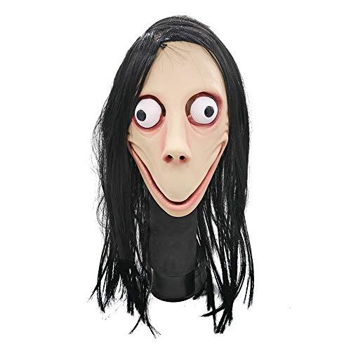 Oyria Máscara de látex Momo con máscara Espeluznante, máscara de Monstruo residente Malvado, Disfraces de Miedo, máscara de Goma para Halloween