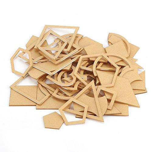 Patchwork Schablonen, Schablonen Set, Acryl, Transparent, 54 Stück Hexagon Schablone Patchwork