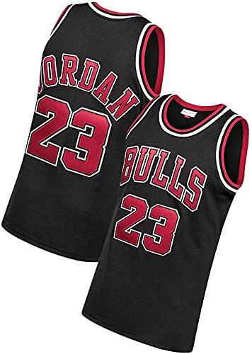 ALXLX Camiseta de baloncesto para hombres y mujeres 23 # malla bordada, moda sin mangas, NBA, baloncesto, mascota, sin mangas, para verano, transpirable, negro, XXL