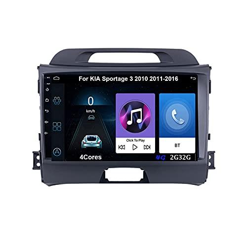 Autoradio Android Car Radio Stereo 9 Pulgadas Pantalla Táctil Para Kia Sportage 3 2010-2015 2016 Para De Coche Conecta Y Reproduce Autoradio Mit Bluetooth Freisprecheinrichtung