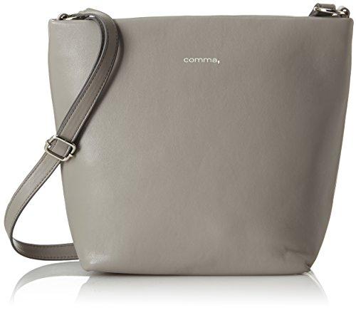 comma Damen Soft & Easy Shoulderbag Mvz Henkeltasche, Grau (Grey), 11x26x22 cm