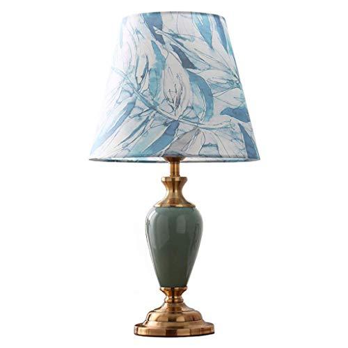 HLL Novedad Lámparas, lámparas de noche y de mesa Retro Tela nórdica Cerámica Lámpara de mesa Lámpara de mesita de noche Decoración Restaurante Decoración de dormitorio Accesorio de iluminación Lámpa