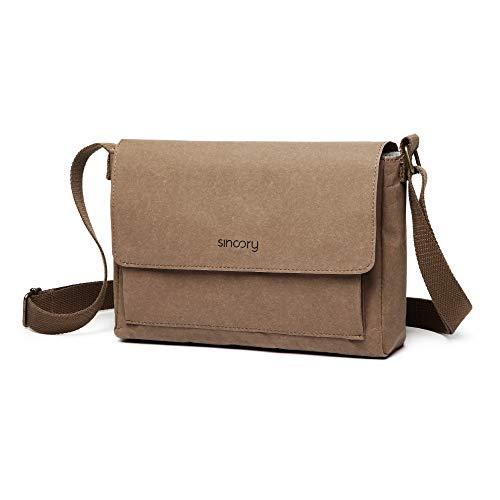 sincory daily - Damen-Handtasche - nachhaltig und vegan - Umhängetasche, Crossover, Crossbody - ideales Frauen-Accessoire aus Kraft-Papier