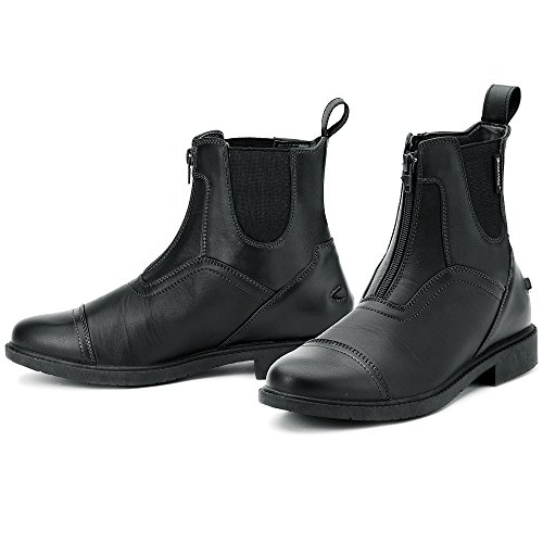 Ovation Ladies Energy Zip Front Paddock Riding Boots, Black, 32