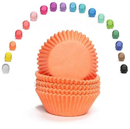 Miss Bakery's House Mini-Muffinförmchen - Orange - 200 Stück - Papierförmchen für Cupcakes, Muffins, Pralinen - Backförmchen - Deutsche Marke