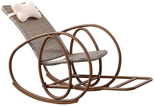 Ligero Sillón de la silla de movilidad anciana de la tumbona  Sillón  Silla de mimbre  Inicio Balcón Silla de descanso para almuerzos para adultos  Silla de jardín con reposacabezas, pedal telescópico