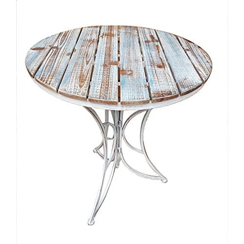 Chenquan CSQ Table et Chaise Courtyard Combinaison à Trois pièces Le Tiantai Balcon Bar Café Boutique Jardin Pliable | 1 Table et 2 chaises Table de thé (Taille : One Table)