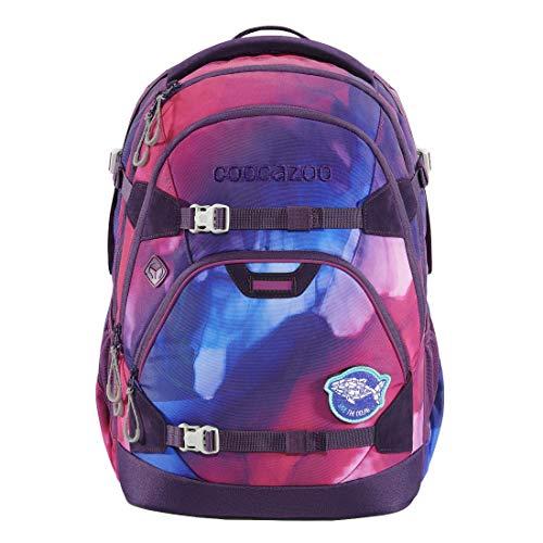 """coocazoo Schulrucksack ScaleRale """"OceanEmotion – Purple Bay"""", lila, ergonomischer Tornister, höhenverstellbar mit Brustgurt und Hüftgurt für Mädchen ab der 5. Klasse, 30 Liter"""