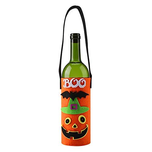 Fdit Halloween-wijnflesdeksel met draaggreep, draagbaar, tode wijnchampagne, bag en festivals, voor tafeldecoratie, home feestelijke party
