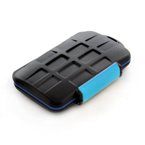JJC multi custodia contenitore impermeabile in plastica rigida per schede: 4x CF 8x SD - Compact Flash SDHC - Multi Card Case Safe